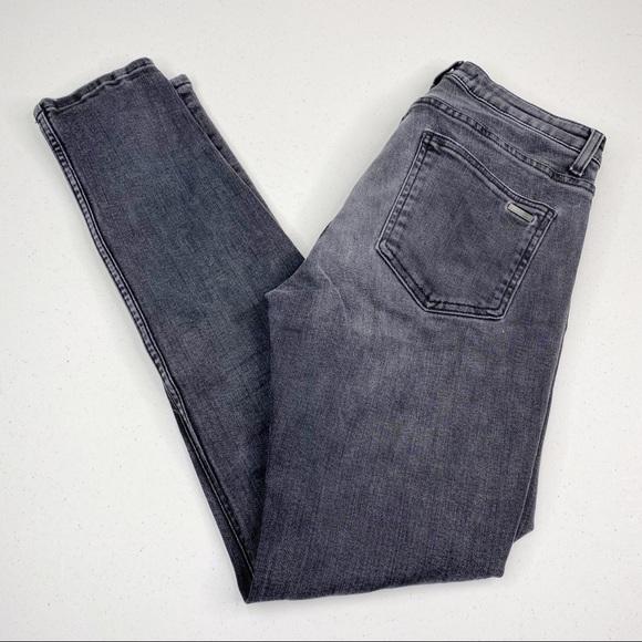 ZARA Skinny Button Fly Jeans Black 32